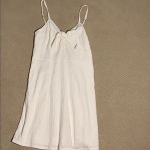 Hollister Embroidered White Tie Dress
